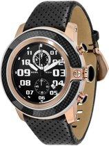 GR33105 Glam Rock SoBe Tech herenhorloge - 50 mm - Leer - Zwart
