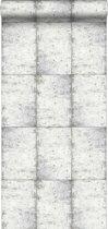 HD vliesbehang zinken platen licht warm grijs - 138877 ESTAhome.nl