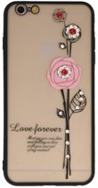 Roze Love Forever back case Hoesje voor Apple iPhone 6 Plus / 6s Plus