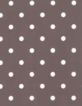 2LIF Dots Taupe Tafelzeil - PVC -  140 x 240 cm