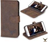 Gazzi Lederen iPhone 7 Hoesje - Book Case - Vintage Brown