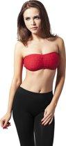 Ladies Laces Bandeau in kleur rood in maat m