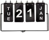 Metalen dag (omslag) kalender Industriële look, Tafel/bureau kalender