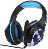 Gaming Headset 40mm Magnetische Neodymium Driver -  Met 2 x 3.5mm Audio Connectors - Zwart/Blauw