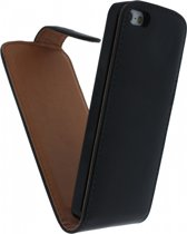 Xccess Leather Flip Case Apple iPhone 5/5S Black