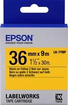 Epson Pastel Tape- LK-7YBP Pastel Blk/Yell 36/9