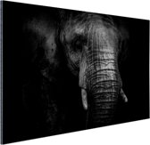 Gebarsten Olifant Aluminium 60x40 cm - Foto print op Aluminium (metaal wanddecoratie)
