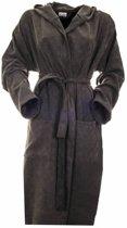 Sauna badjas Stone antraciet denim maat M medium - dunne badjas - ochtendjas - duster - kamerjas - TIJDELIJK IN PRIJS VERLAAGD!