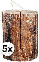 5x zweedse fakkel 20 x 10 cm