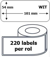 25x Dymo 99014 compatible 220 labels  / 54 mm x 101 mm / wit / papier