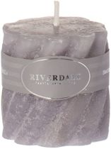 Riverdale Living - Kaars Swirl Cool grey 5x5cm