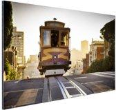 Tram San Francisco Aluminium 120x80 cm - Foto print op Aluminium (metaal wanddecoratie)