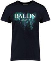 Ballin Est. 2013 - Heren Tee SS Blue Paint Shirt - Blauw - Maat S