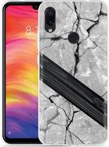 Xiaomi Redmi Note 7 Hoesje Marble Wood