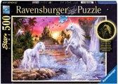Ravensburger Starline puzzel Eenhoorns bij de rivier 500 stukjes