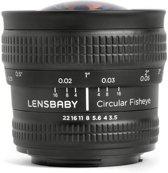 Lensbaby Circulair Fisheye 5.8mm f/3.5 Lens - geschikt voor Canon spiegelreflexcamera's