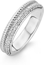 TI SENTO Milano Ring 12083ZI - Maat 58 (18.50 mm) - Gerhodineerd Sterling Zilver