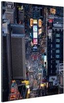 Times Square  Aluminium 20x30 cm - klein - Foto print op Aluminium (metaal wanddecoratie)