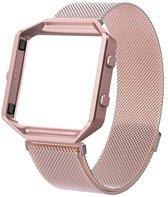Metalen armband voor Fitbit Blaze met frame magneet slot - Roze