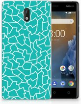Nokia 3 TPU Hoesje Design Cracks Blue