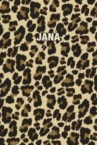 Jana: Personalized Notebook - Leopard Print (Animal Pattern). Blank College Ruled (Lined) Journal for Notes, Journaling, Dia