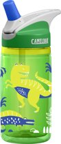 Camelbak Eddy Kids - Insulated Drinkfles - 400 ML -  Green Dinos