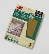 3M™ SandBlaster™ Schuurpapier vellen, 60376, Groen, 23 cm x 28 cm, P60/P80, 3 vellen