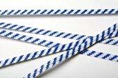 Bindstrips 15,2x0,4cm Papier Wit/Blauw gestreept (1000 stuks)