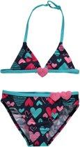thumbnail Losan Meisjes Zwemkleding Bikini Blauw met hartjes - Maat 122