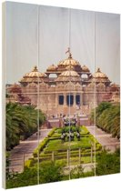 Akshardham Tempel India Hout 20x30 cm - klein - Foto print op Hout (Wanddecoratie)