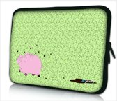 Laptophoes 14 inch varkentje - Sleevy - Laptop sleeve - Macbook hoes - beschermhoes