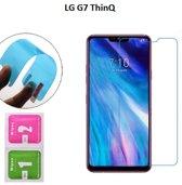 DrPhone LG G7 ThinQ Nano Explosion-proof Schermfolie Flexibele Anti-Shock 0.3mm Soft Glass Screenprotector - Nano technologie Screen Protector - Inclusief NL Handleiding