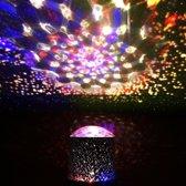 6x Sterrenprojector met led licht in verschillende kleuren 10 x 14 cm - nachtlamp / sfeerlamp / DJ verlichting