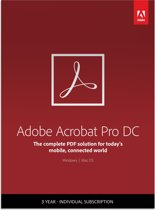 Adobe Acrobat Pro DC - 1 Apparaat - 3 Jaar - Multi Languages - Windows / Mac Download