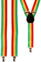 Bretels rood/geel/groen