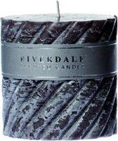 Riverdale Swirl - Geurkaars - Donkergrijs -10x10 cm