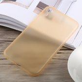 0,3 mm Ultradun Frosted PP-hoesje voor iPhone XR (goud)