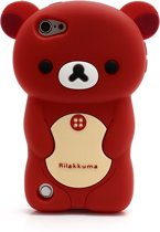 Apple iPod Touch 5 3D Rilakkuma Beer Silicone Hoesje Rood