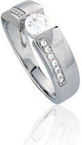 Classics&More - Zilveren Ring Met zirkonia