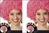 2x Pruik Afro Pink