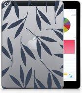 Apple iPad 9.7 2018   2017 Tablethoesje Design Leaves Blue