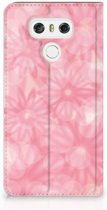 LG G6 Uniek Standcase Hoesje Spring Flowers