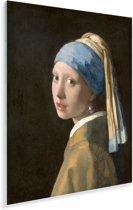 Meisje met de Parel - Schilderij van Johannes Vermeer Plexiglas 60x80 cm - Foto print op Glas (Plexiglas wanddecoratie)