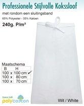 Homéé - Kokssloof wit 65% Polyester 35% Katoen 240g. p/m²   set van 2 stuks  100x100cm