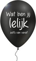 12 verwensballonnen in cadeauverpakking: 'wat ben jij lelijk - zelfs van veraf'