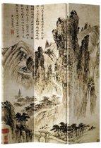 Fine Asianliving Kamerscherm Scheidingswand 3 Panelen Bergen