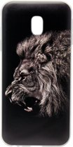 ADEL Siliconen Softcase Back Cover Hoesje voor Samsung Galaxy J3 (2017) - Donkere Leeuw