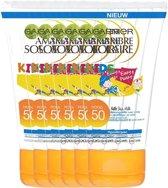 Garnier Ambre Solaire Kids Zonnebrandcrème SPF 50 - 6 x 50 ml - Hypoallergeen - Voordeelverpakking