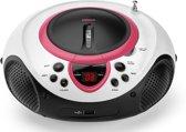 Lenco SCD-38 - Radio/CD-speler met USB - Wit/Roze