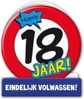 Paperdreams - Wenskaart - Verkeersbord - 18 Jaar